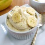 Sorvete de Banana com Iogurt e Mel