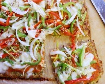 Pizza Com Massa de Abobrinha