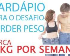 CARDAPIO PARA DESAFIO PERDERPESO