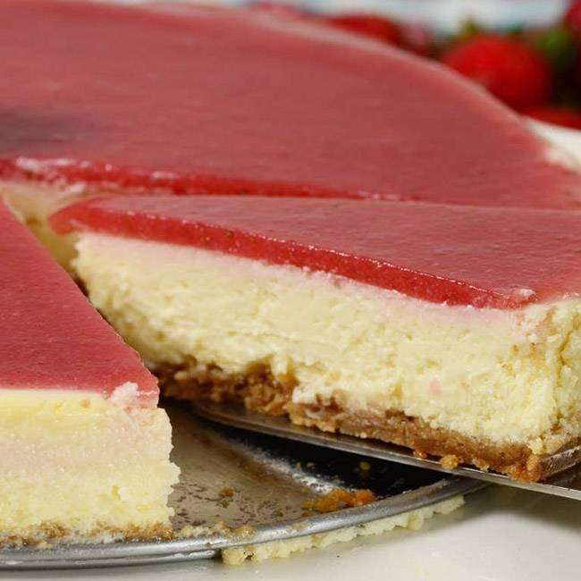 Cheesecake-de-Morango-Light Cheesecake de Morango Light