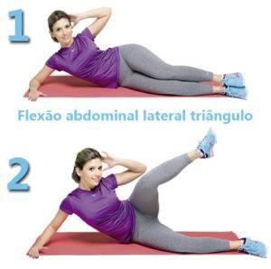 Flexão Abdominal Lateral Triângulo