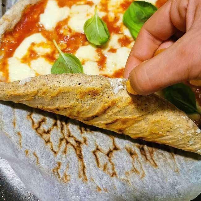 Massa de Pizza de Frigideira Fit
