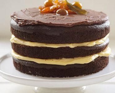 Naked Cake de Cacau com Beijinho Vegano