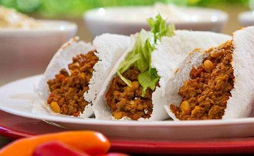 carne-de-soja 12 Opções de Recheio Para Tapioca