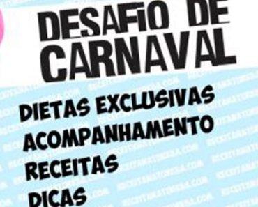 CARDÁPIO PARA O DESAFIO DE CARNAVAL – FASE 1