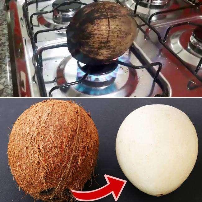 Como-Descascar-Coco-de-Maneira-Fácil Como Descascar Coco de Maneira Fácil