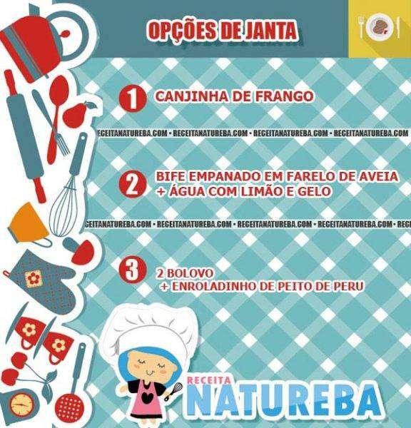 JANTAR CARDÁPIO PARA O DESAFIO DE CARNAVAL - FASE 1