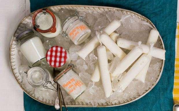 iogurte 7 Receitas de Geladinhos
