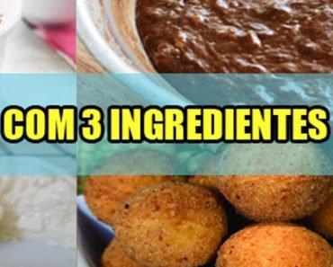 5 Receitas com 3 Ingredientes1