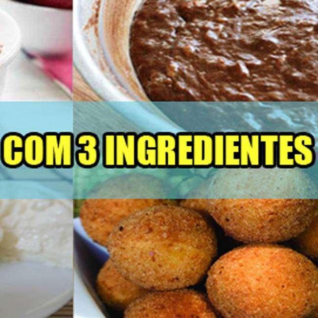 5 Receitas com 3 Ingredientes