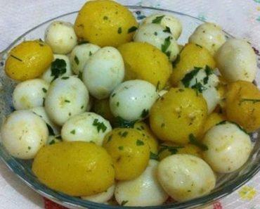 Salada de Ovos com Batatas