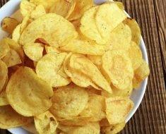 Batata Chips Crocante de Microondas