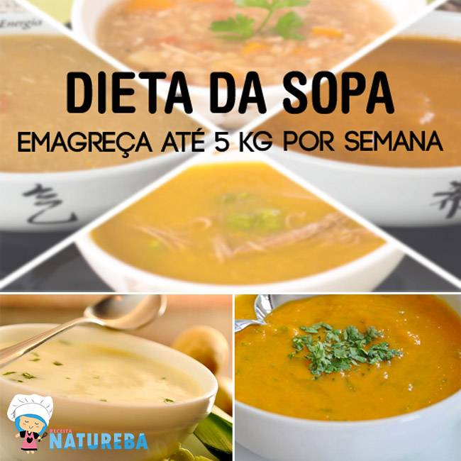 Dieta-da-Sopa-Emagreça-até-5-kg-por-Semana Como Emagrecer Rápido - Projeto Magra para o Verão