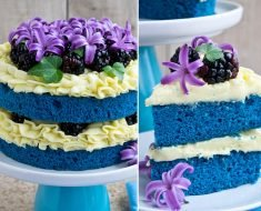 Naked Cake Blue com Merengue Vegano
