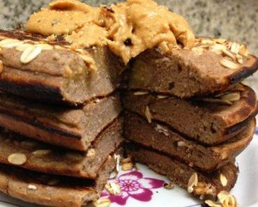 Panqueca Proteica de Banana Com Chocolate