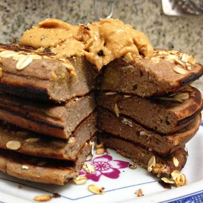 Panqueca-Proteica-de-Banana-Com-Chocolate Panqueca Proteica de Banana Com Chocolate