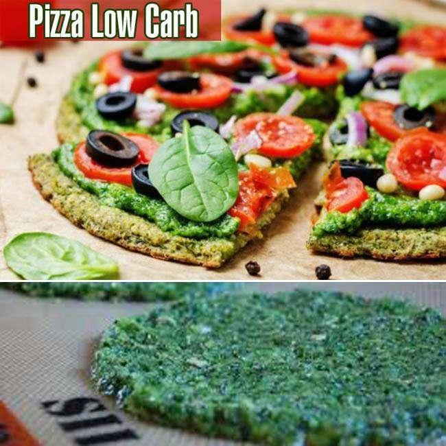 Pizza Fit com Massa de Brócolis
