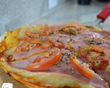 Receita de Pizza de Frigideira Fit