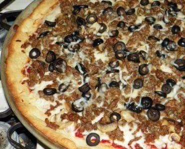 Massa de Pizza Low Carb Crocante Recheada
