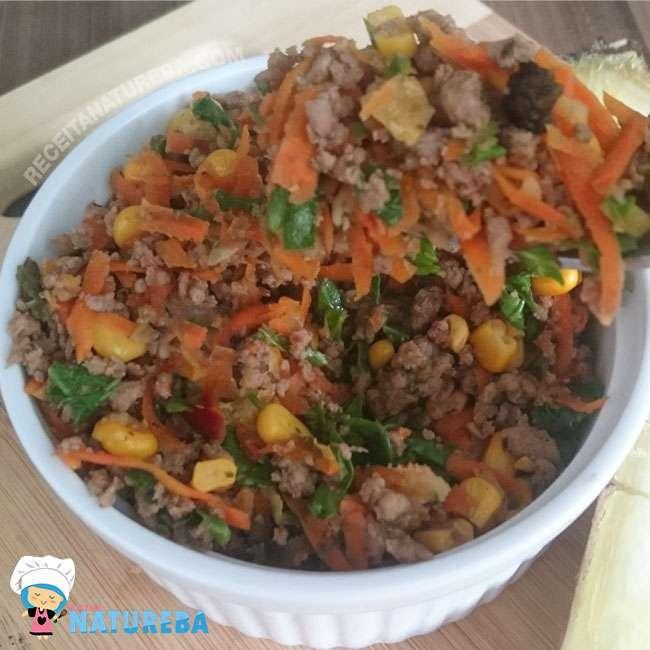 Picadinho-de-Carne-Moída-com-Legumes-Saudável Picadinho de Carne Moída com Legumes Saudável