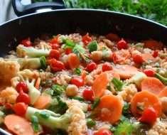 Receita de Paella Vegetariana
