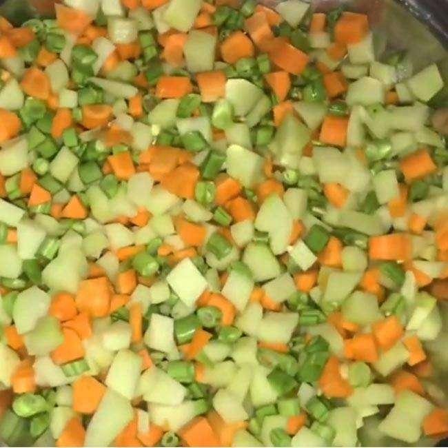 1 Legumes na Panela de Pressão em 3 Minutos