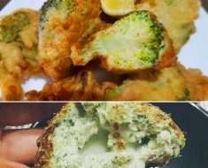 Brocolis Empanado Sem Fritura