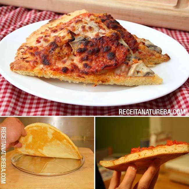 Pizza com Farinha de Aveia