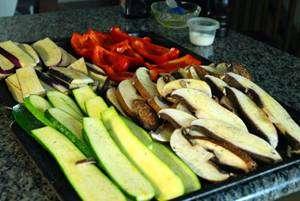 Legumes na Churrasqueira