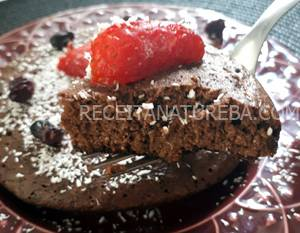 Bolo de Chocolate Low Carb de Frigideira