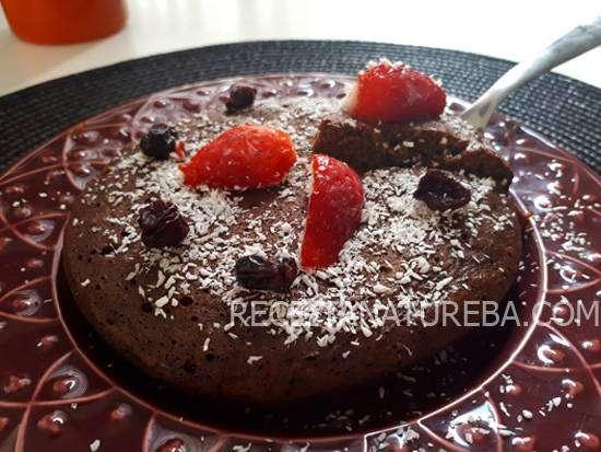 Bolo de Chocolate Low Carb de Frigideira
