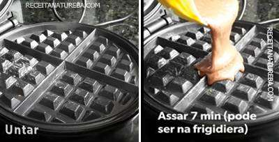 Waffle Fit com Whey Protein