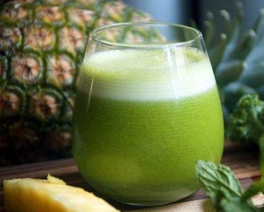 Suco Detox de Abacaxi com Hortelã Para Emagrecer