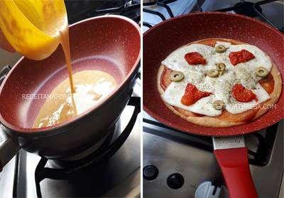 Pizza de Frigideira Fit