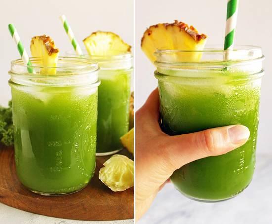 Caipirinha de abacaxi com jengibre para adelgazar