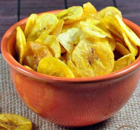 Chips-Crocante-de-Banana Couve Flor na Airfryer
