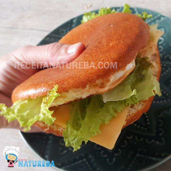 Pao-de-Frigideira-Low-Carb Pão de Frigideira Low Carb
