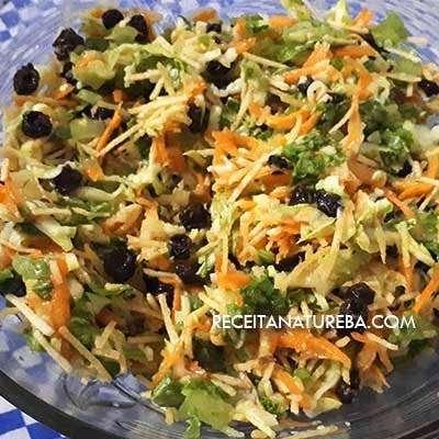 Salada de Abobrinha Ralada