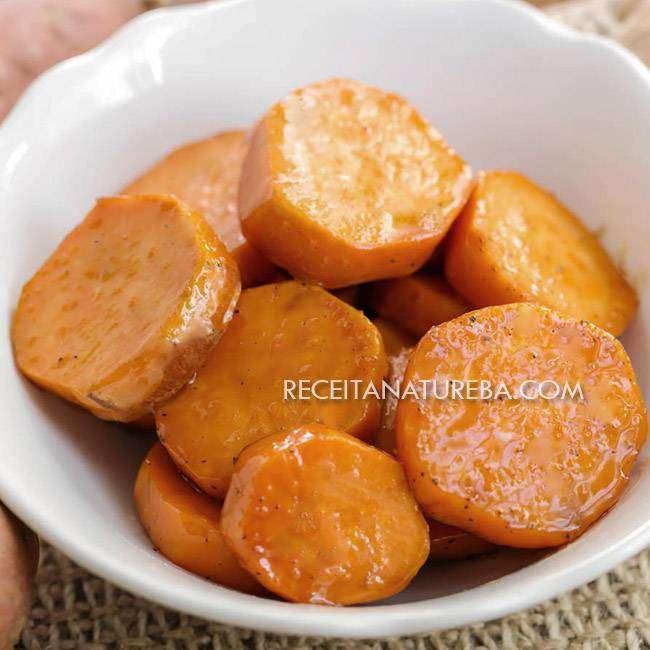 Batata-Doce-Caramelizada Batata Doce Caramelizada