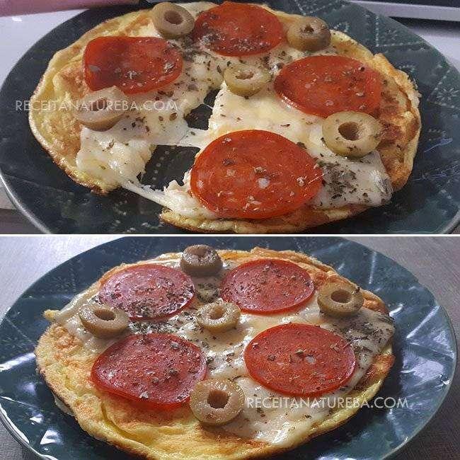 Pizza de Omelete na Frigideira
