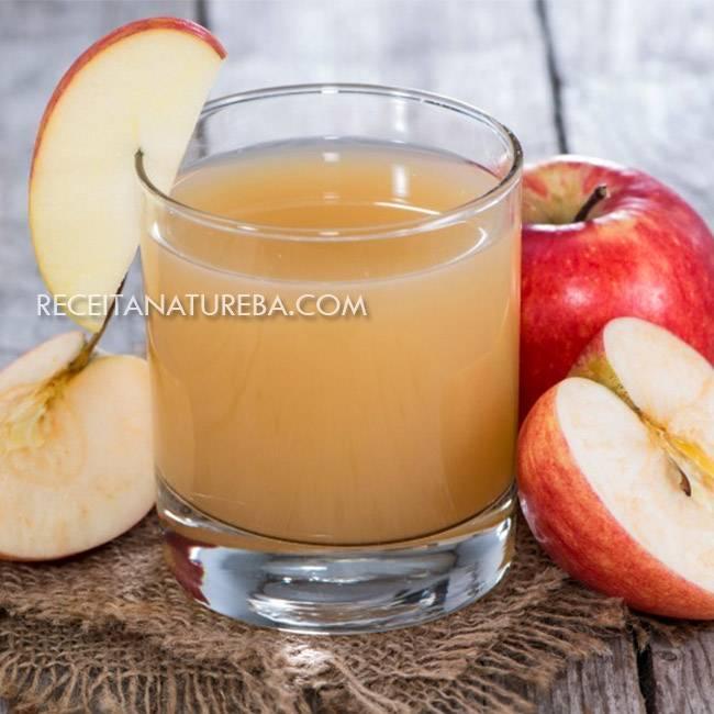 Suco-de-Maçã-com-Limão Suco de Maçã com Limão