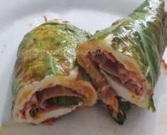 Wrap de Couve Low Carb