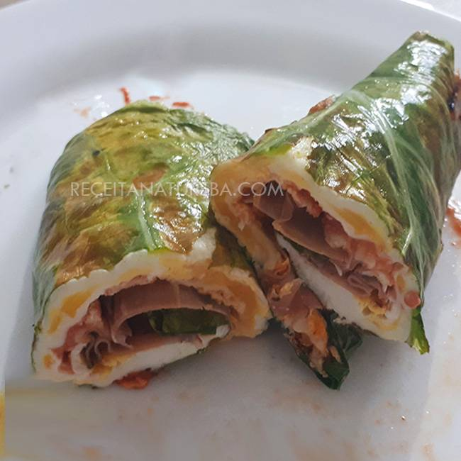 Wrap-de-Couve-Low-Carb Wrap de Couve Low Carb