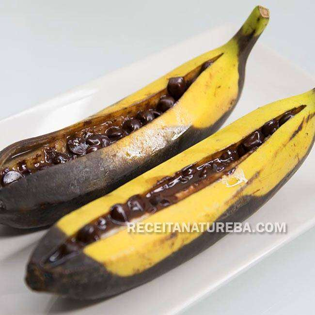 Banana Assada na Churrasqueira