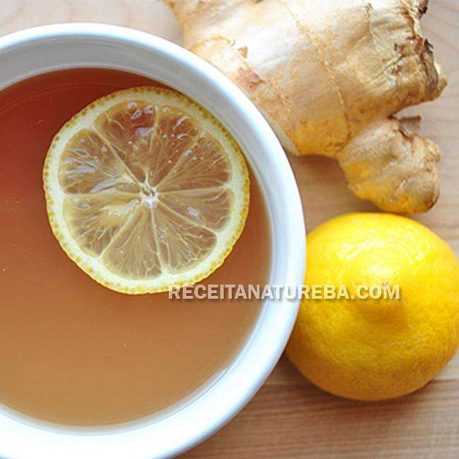 Chá-de-Gengibre-com-Limão Chá de Gengibre com Limão