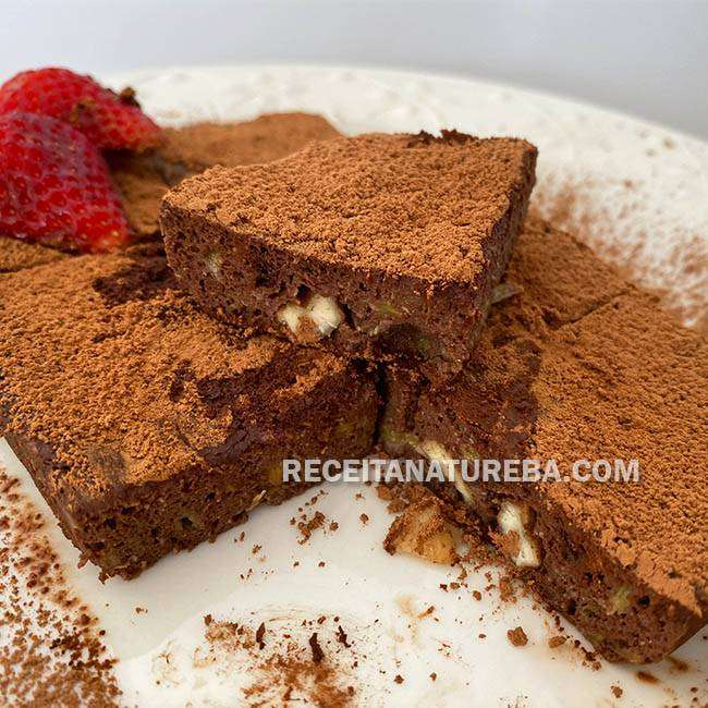 Brownie-Low-Carb-de-Microondas Brownie Low Carb de Microondas