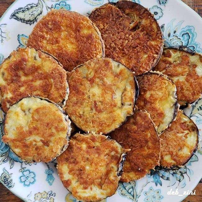 Berinjela Empanada com Queijo