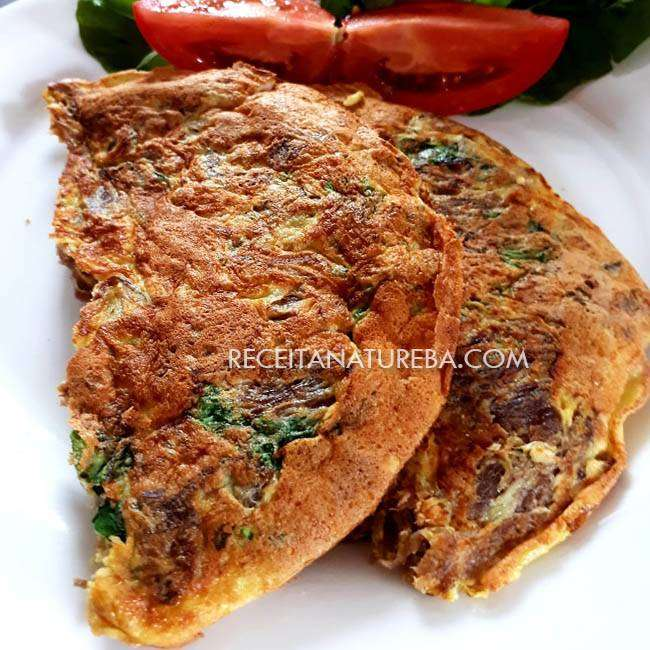 Omelete-de-Frango-Desfiado Omelete de Frango Desfiado