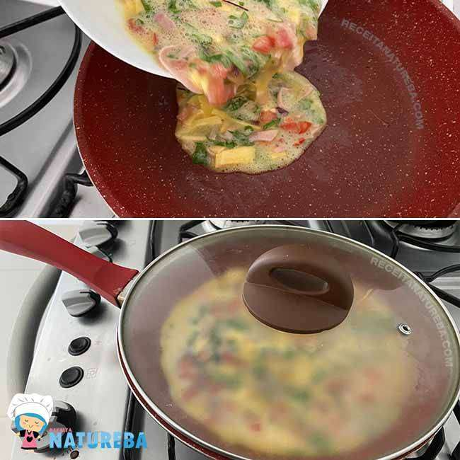 Omelete-com-Tomate3 Omelete com Tomate