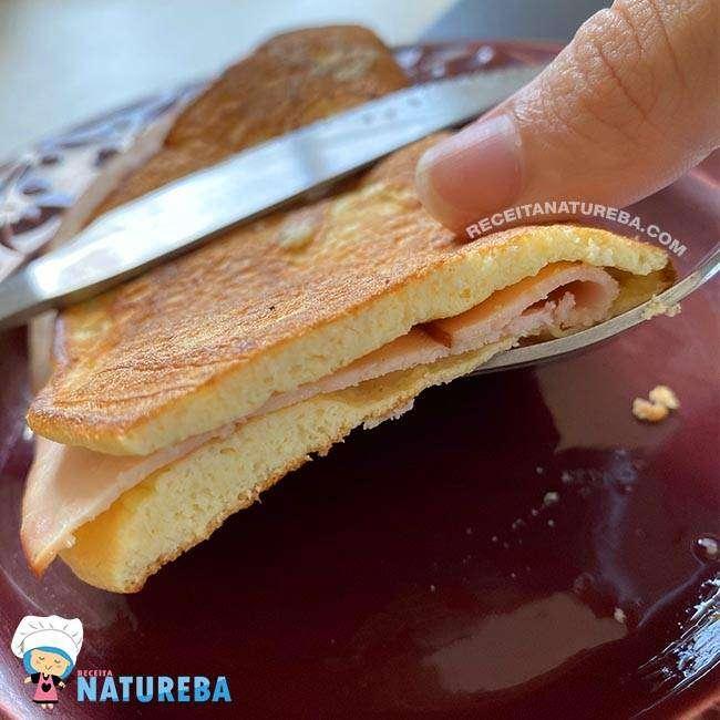 Panqueca-Low-Carb-de-Café-da-Manhã3 Panqueca Low Carb de Café da Manhã
